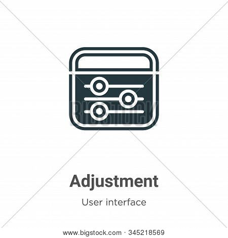 Adjustment icon isolated on white background from user interface collection. Adjustment icon trendy