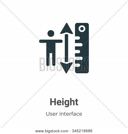 Height icon isolated on white background from user interface collection. Height icon trendy and mode