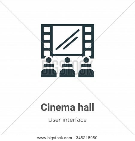 Cinema Hall Vector Icon On White Background. Flat Vector Cinema Hall Icon Symbol Sign From Modern Us