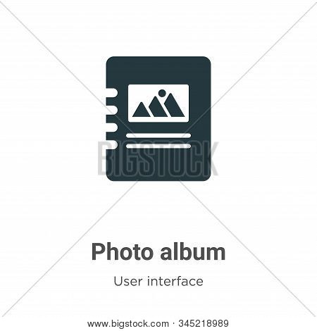 Photo album icon isolated on white background from user interface collection. Photo album icon trend