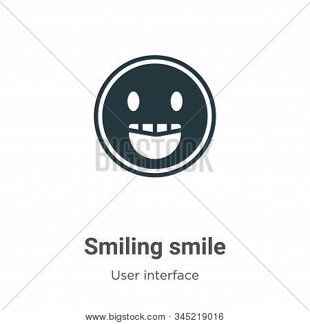 Smiling smile icon isolated on white background from user interface collection. Smiling smile icon t