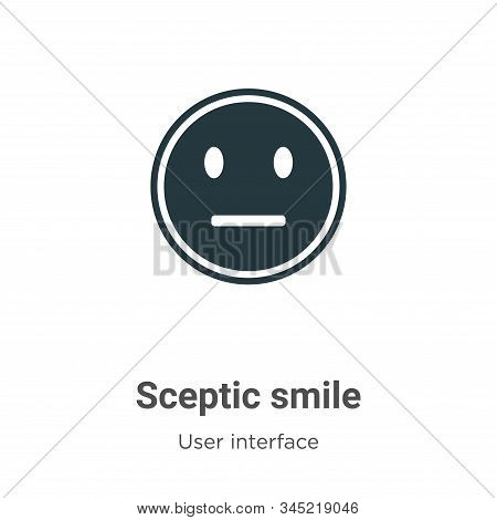 Sceptic smile icon isolated on white background from user interface collection. Sceptic smile icon t