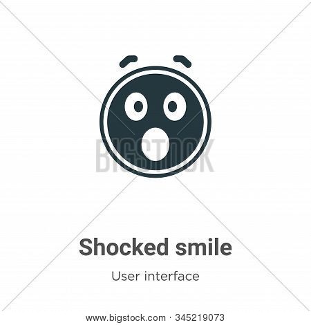 Shocked smile icon isolated on white background from user interface collection. Shocked smile icon t