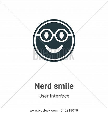 Nerd smile icon isolated on white background from user interface collection. Nerd smile icon trendy