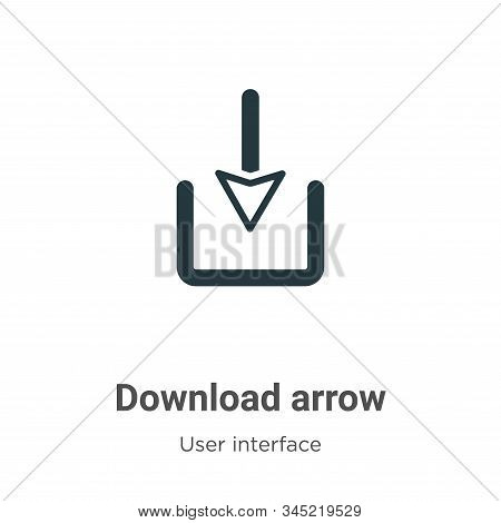 Download arrow icon isolated on white background from user interface collection. Download arrow icon