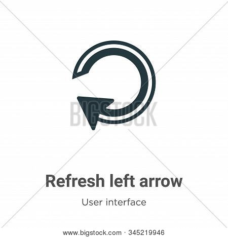 Refresh left arrow icon isolated on white background from user interface collection. Refresh left ar