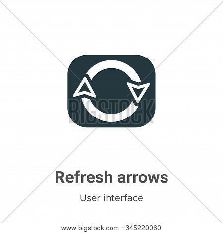 Refresh arrows icon isolated on white background from user interface collection. Refresh arrows icon