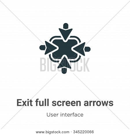 Exit full screen arrows icon isolated on white background from user interface collection. Exit full
