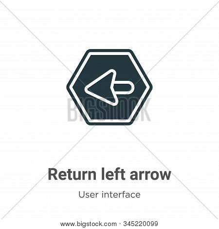 Return left arrow icon isolated on white background from user interface collection. Return left arro