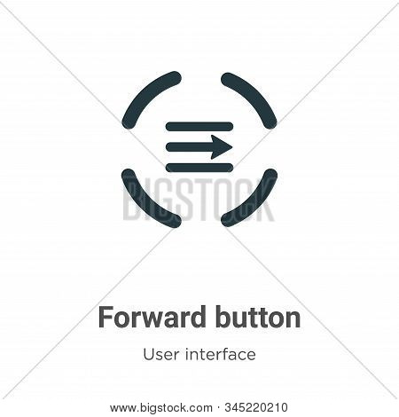 Forward button icon isolated on white background from user interface collection. Forward button icon