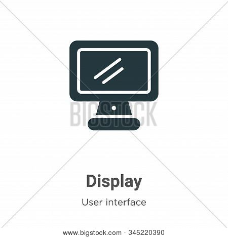 Display icon isolated on white background from user interface collection. Display icon trendy and mo