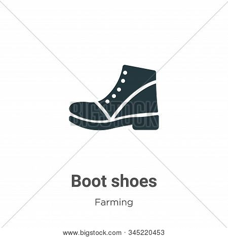 Boot shoes icon isolated on white background from farming collection. Boot shoes icon trendy and mod