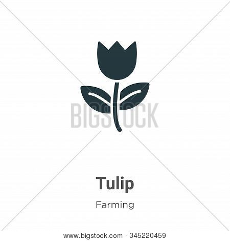 Tulip icon isolated on white background from gardening collection. Tulip icon trendy and modern Tuli