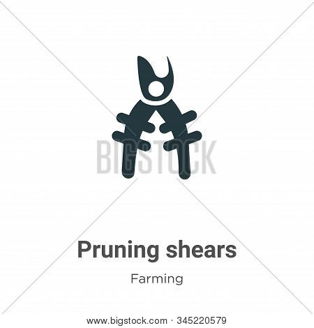 Pruning shears icon isolated on white background from gardening collection. Pruning shears icon tren