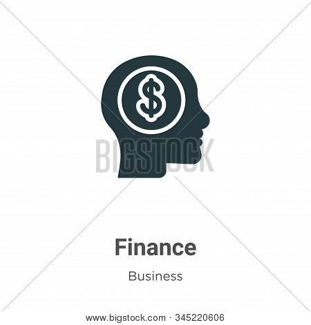 Finance icon isolated on white background from business collection. Finance icon trendy and modern F