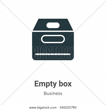 Empty box icon isolated on white background from business collection. Empty box icon trendy and mode