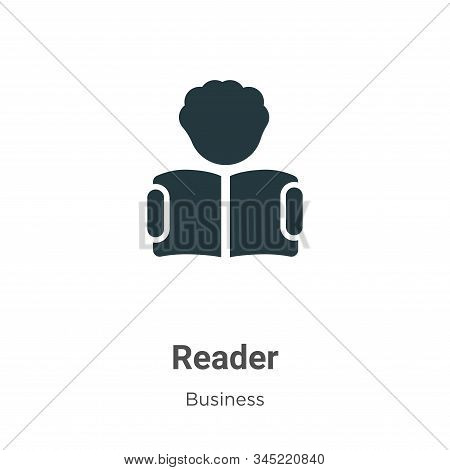 Reader icon isolated on white background from business collection. Reader icon trendy and modern Rea