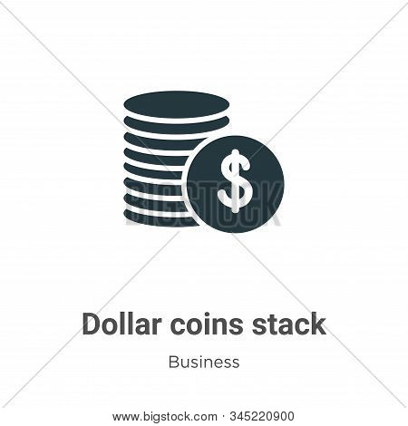 Dollar coins stack icon isolated on white background from business collection. Dollar coins stack ic