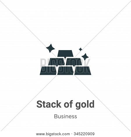 Stack of gold icon isolated on white background from business collection. Stack of gold icon trendy