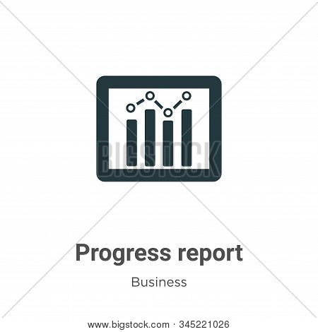 Progress report icon isolated on white background from business collection. Progress report icon tre