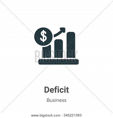 Deficit Vector Icon On White Background. Flat Vector Deficit Icon Symbol Sign From Modern Business C