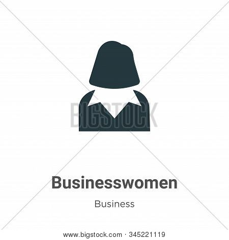 Businesswomen icon isolated on white background from business collection. Businesswomen icon trendy