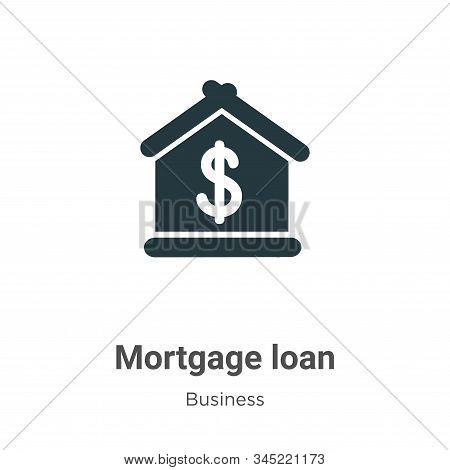 Mortgage Loan Vector Icon On White Background. Flat Vector Mortgage Loan Icon Symbol Sign From Moder