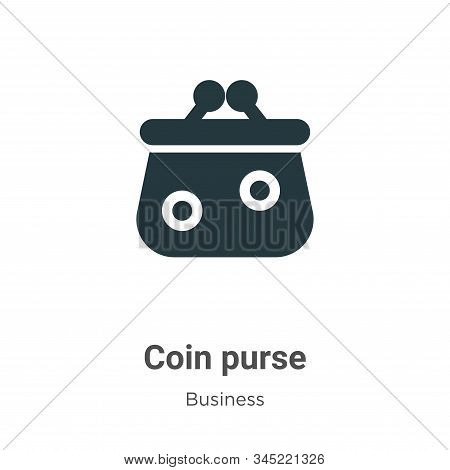 Coin Purse Vector Icon On White Background. Flat Vector Coin Purse Icon Symbol Sign From Modern Busi