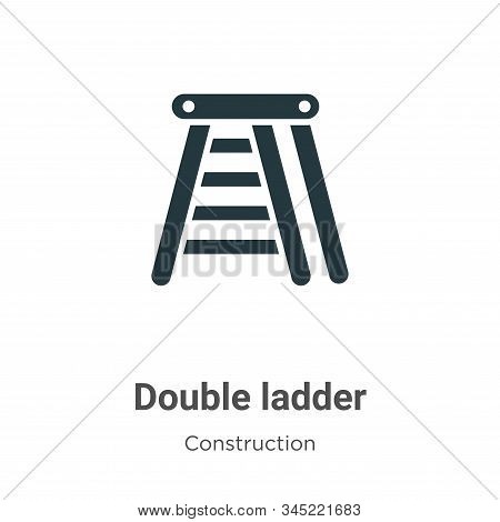 Double ladder icon isolated on white background from construction collection. Double ladder icon tre