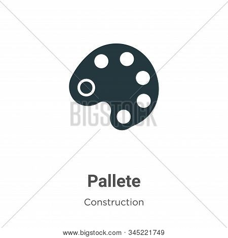 Pallete icon isolated on white background from construction collection. Pallete icon trendy and mode