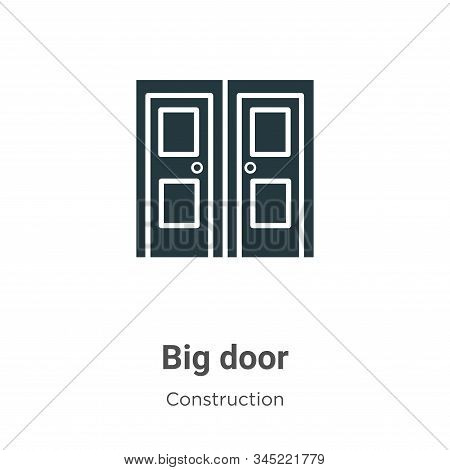 Big door icon isolated on white background from construction collection. Big door icon trendy and mo