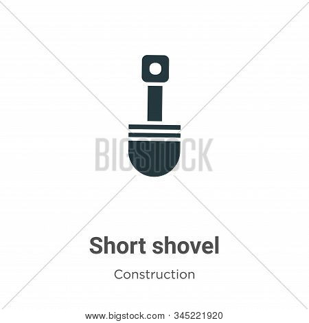 Short shovel icon isolated on white background from construction collection. Short shovel icon trend
