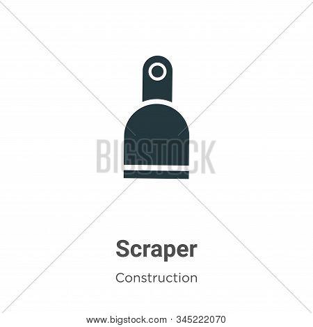 Scraper Vector Icon On White Background. Flat Vector Scraper Icon Symbol Sign From Modern Constructi