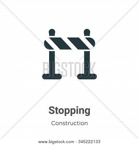 Stopping icon isolated on white background from construction collection. Stopping icon trendy and mo