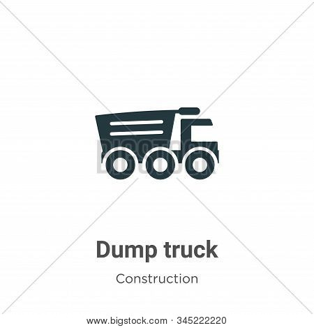 Dump truck icon isolated on white background from construction collection. Dump truck icon trendy an
