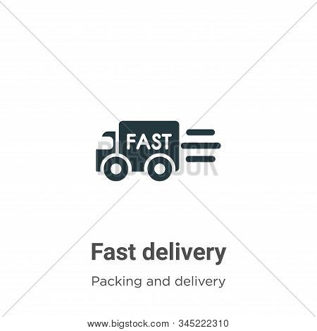 Fast delivery icon isolated on white background from packing and delivery collection. Fast delivery