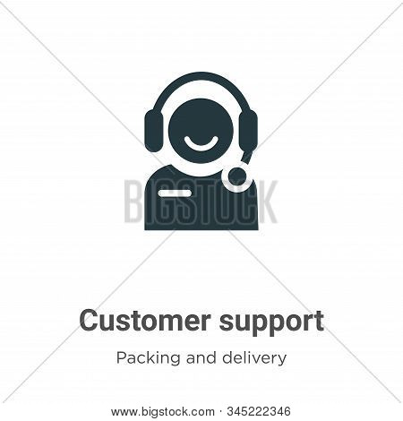 Customer support icon isolated on white background from packing and delivery collection. Customer su