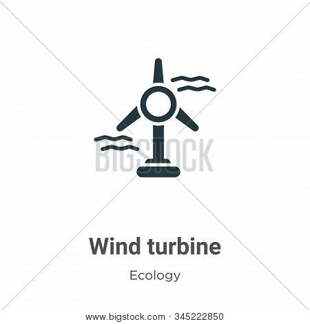 Wind turbine icon isolated on white background from ecology collection. Wind turbine icon trendy and