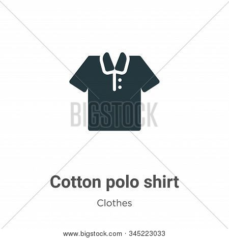 Cotton polo shirt icon isolated on white background from clothes collection. Cotton polo shirt icon