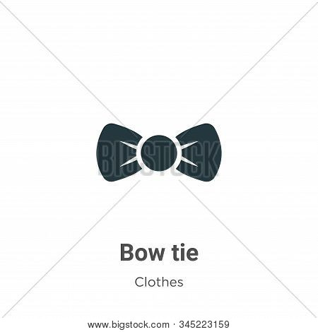 Bow tie icon isolated on white background from clothes collection. Bow tie icon trendy and modern Bo