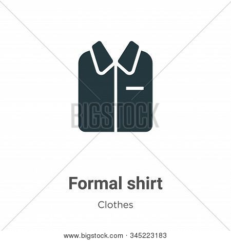 Formal shirt icon isolated on white background from clothes collection. Formal shirt icon trendy and