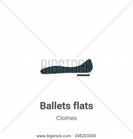 Ballets flats icon isolated on white background from clothes collection. Ballets flats icon trendy a