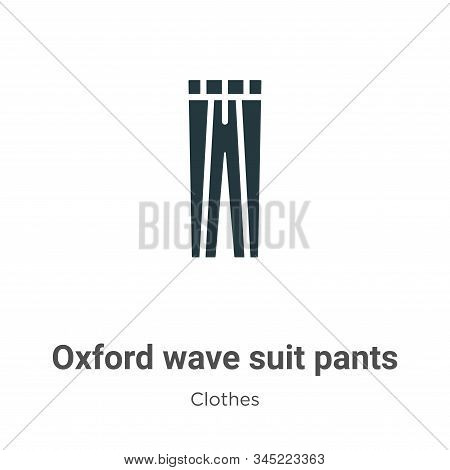 Oxford wave suit pants icon isolated on white background from clothes collection. Oxford wave suit p