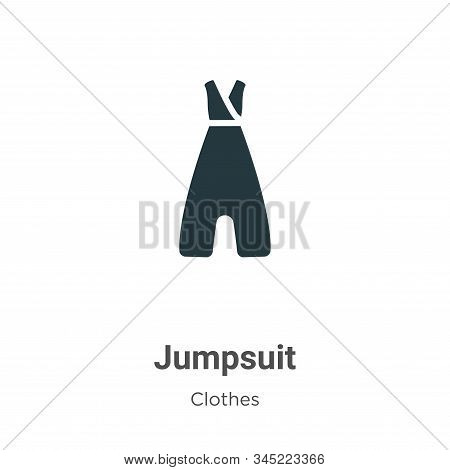 Jumpsuit Vector Icon On White Background. Flat Vector Jumpsuit Icon Symbol Sign From Modern Clothes