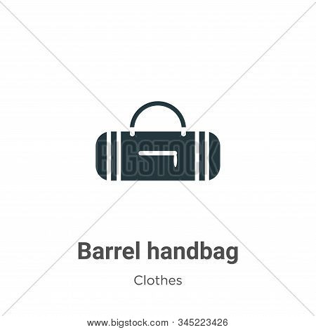 Barrel handbag icon isolated on white background from clothes collection. Barrel handbag icon trendy