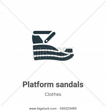 Platform sandals icon isolated on white background from clothes collection. Platform sandals icon tr