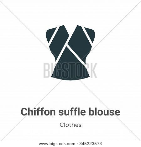 Chiffon suffle blouse icon isolated on white background from clothes collection. Chiffon suffle blou