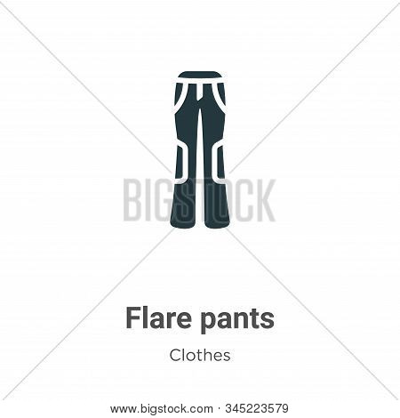 Flare pants icon isolated on white background from clothes collection. Flare pants icon trendy and m