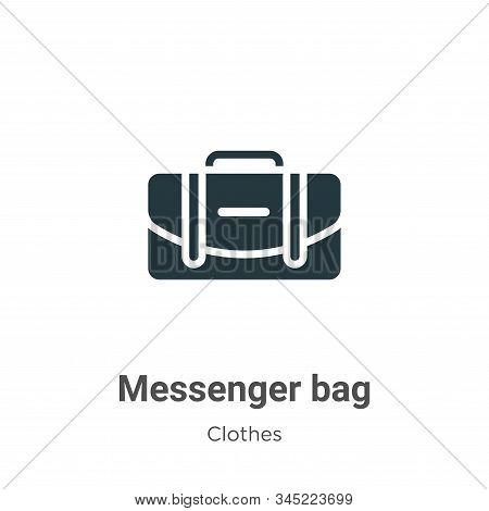 Messenger Bag Vector Icon On White Background. Flat Vector Messenger Bag Icon Symbol Sign From Moder