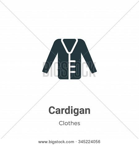 Cardigan icon isolated on white background from clothes collection. Cardigan icon trendy and modern